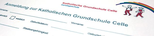 Anmeldung Katholische Grundschule Celle